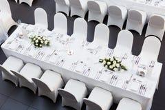 Таблица свадьбы стоковые изображения