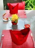 Таблица сервировки в кафе Стоковое Изображение RF
