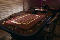 таблица съемки встречи рулетки казино реальная Стоковые Изображения RF