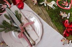 таблица установки рождества сбор винограда типа лилии иллюстрации красный Стоковые Изображения RF