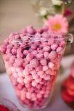 Таблица шведского стола конфеты Ombre Стоковые Изображения