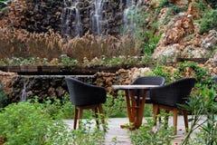 таблица для 3 из водопада Стоковая Фотография