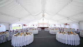 Таблица Hall приема по случаю бракосочетания Стоковое Изображение