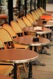 Таблицы кафа, Париж. Стоковое Изображение