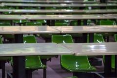 Таблицы и табуретки столовой Стоковое фото RF