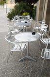 Таблицы кафа на улице Стоковые Изображения