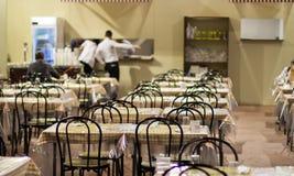 Таблицы ресторана на ремесле справедливом в милане Стоковые Фотографии RF