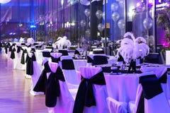 Таблицы свадьбы стоковая фотография