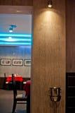 Таблицы сервировки с кафем Стоковое Изображение