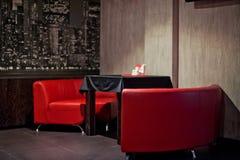 Таблицы сервировки с кафем Стоковые Изображения