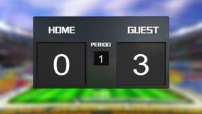 Табло футбольного матча рисует 0 & 0 иллюстрация штока