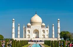 Тадж-Махал, самый известный памятник Индии Агра - Уттар-Прадеш Стоковые Изображения RF