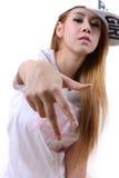 Тазобедренная девушка хмеля Стоковые Фотографии RF