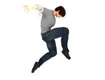 Тазобедренный танцор хмеля на движении изолированный на белизне Стоковая Фотография RF