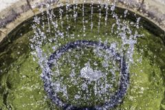Таз фонтана от высокого угла Стоковые Фото