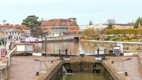 Таз Bancroft, Стратфорд на канале Эвона, Уорикшире стоковые фото