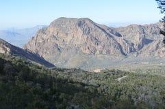 Таз Chisos в большом национальном парке загиба Стоковые Изображения