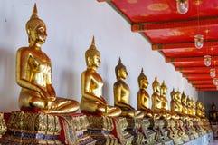 Таиланд, Бангкок. Histirical и наследие культуры, Tample рассвета, золота Buddhas Стоковая Фотография