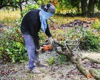 ТАИЛАНД 16-ОЕ АВГУСТА: Древесина вырезывания молодого человека, который нужно использовать как швырок ТАИЛАНД 16-ОЕ АВГУСТА 2017 стоковое изображение