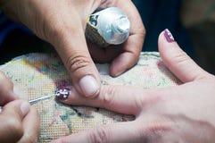 Таиланд покрашенный ногтем стоковые изображения