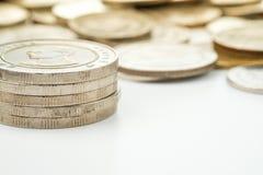 Таиланд 10 штабелированных монеток бата Стоковые Фото