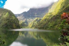 Таити во Французской Полинезии, озере Vaihiria стоковое фото rf