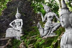 Таиланд Волшебные секретные статуи сада Будды в Samui Перемещение, t Стоковое Фото