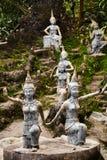 Таиланд Волшебные секретные статуи сада Будды в Samui Перемещение, t Стоковые Фотографии RF