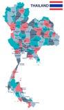Таиланд - иллюстрация карты и флага Стоковые Фотографии RF