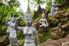 Таиланд Статуи в секретном саде Будды в Koh Samui Буддизм Стоковые Фото