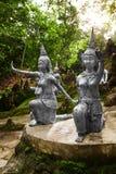 Таиланд Статуи в секретном саде Будды в Koh Samui Буддизм Стоковое Изображение