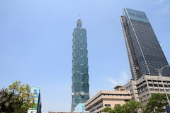 Тайбэй 101, высокое здание подъема в Тайбэе, Тайване, ROC Стоковое Изображение RF