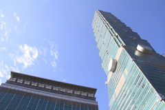 Тайбэй 101, высокое здание подъема в Тайбэе, Тайване, ROC Стоковая Фотография