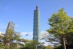 Тайбэй 101, высокое здание подъема в Тайбэе, Тайване, ROC Стоковое фото RF