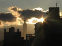 Тайбэй 101 на восходе солнца Стоковое Изображение