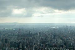 Тайбэй под тяжелыми облаками Стоковые Фото