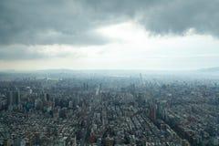 Тайбэй под тяжелыми облаками Стоковая Фотография RF