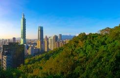 Тайбэй с небоскребом Тайбэя 101 Стоковая Фотография RF