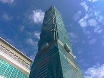 Тайбэй, Тайвань - 22-ое ноября 2015: Башня Тайбэя 101, взгляд от Стоковое Изображение RF