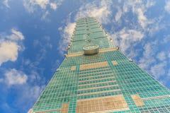 Тайбэй, Тайвань - 22-ое ноября 2015: Башня Тайбэя 101, взгляд от Стоковые Фотографии RF