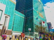 Тайбэй, Тайвань - 22-ое ноября 2015: Башня Тайбэя 101, взгляд от Стоковая Фотография RF
