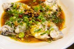 Тайбэй, Тайвань, рестораны морепродуктов, рестораны, крадя вкус рыб моря, свежих и детальных Стоковые Изображения RF
