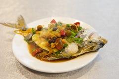 Тайбэй, Тайвань, рестораны морепродуктов, рестораны, крадя вкус рыб моря, свежих и детальных Стоковое Изображение