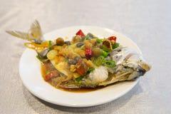 Тайбэй, Тайвань, рестораны морепродуктов, рестораны, крадя вкус рыб моря, свежих и детальных Стоковое фото RF