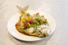 Тайбэй, Тайвань, рестораны морепродуктов, рестораны, крадя вкус рыб моря, свежих и детальных Стоковое Фото