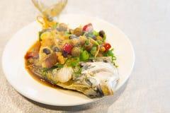 Тайбэй, Тайвань, рестораны морепродуктов, рестораны, крадя вкус рыб моря, свежих и детальных Стоковые Изображения