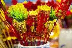 Тайбэй, Тайвань, рынок цветка Jianguo, фестиваль весны Китая, традиционное украшение, Стоковое Фото