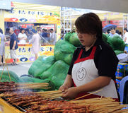 Тайваньские бизнесмены жечь протыкальники Стоковые Изображения