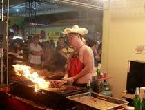 Тайвань зажег визирование ночи мяса Стоковые Фото