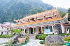 ТАЙВАНЬ - 18-ое января 2016: Висок Xiangde на национальном парке Taroko A Стоковое Изображение